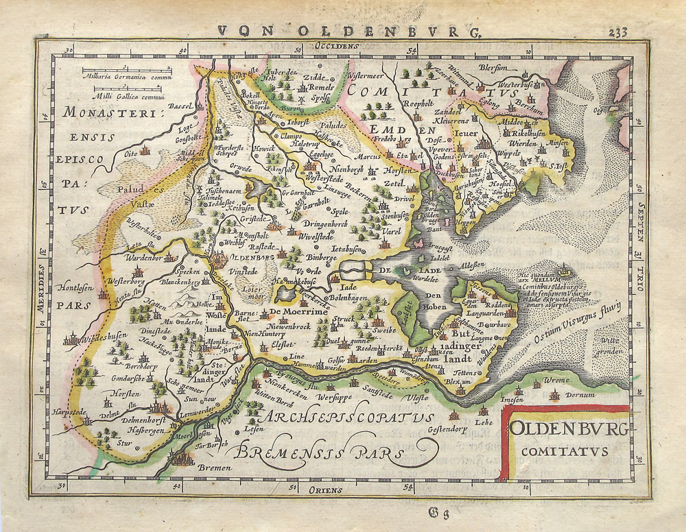 Mercator/Janssonius: Oldenburg Comitatus. 1651